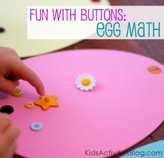 Easy math activity for Easter but you could do this with flowers, pumpkins, Christmas trees... Really anything.