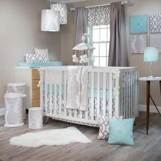 Soho Baby Boy Nursery bedding set by Glenna Jean Neutral Bedding, Chic Bedding, Luxury Bedding, Baby Boy Cribs, Baby Crib Bedding, Tribal Bedding, Soho, Crib Sets, Comforter Sets