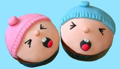Cupcakes decorados de bebés