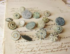 Antique 18th-17th century buttons archaeology by faginsdaughter