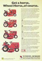 Wheel Horse Garden Tractors 1974 Ad Picture