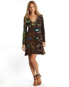 Designer : DRESSES OUTLET - BROWN PRINTED DRESS - $30 Today on Mynetsale.com.au!