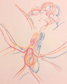 "ismaelguerrier: "" In Motion #6 (Color pencil on paper) Instagram: ismael.guerrier.art Facebook: ismael.guerrier.art """