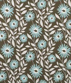 Premier Prints Fenton Village Blue Natural Fabric - (onlinefabricstore.net)
