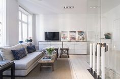 Small Apartment in Stockholm Encapsulating A Glass-Walled Bedroom - http://freshome.com/2014/08/22/small-apartment-in-stockholm-encapsulating-a-glass-walled-bedroom/
