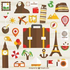 iconos viajes