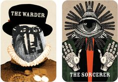 Tim Fishlock's cards for the Tower of London aim to encourage teenagers to explore the site. Cards are grouped into four themes – rulers, rogues, prisoners and guardians – and each features a character and instructions guiding visitors to a place in the tower specific to that person. Fishlock says the artwork is inspired by Polish and Czech collage from the 1960s
