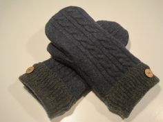 Ironwood Wool Mittens  med/lg  MMC474 by MichMittensbyLauri, $23.00