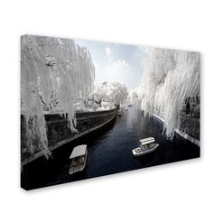"Trademark Art ""Boat Trip"" by Philippe Hugonnard Photographic Print on Wrapped Canvas Size: 12"" H x 19"" W x 2"" D"