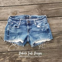 Distressed Jean Shorts, 2 Stretch, By American Eagle, Lace Jean Shorts, Distressed Jeans, Ripped Jeans, Ripped Jean Shorts, Cut Offs, Boho
