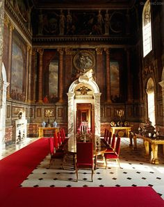 Sir John Vanbrugh and Nicholas Hawksmoor. Interior of the third state room at Blenheim Palace. 1705-ca. 1724; with: André-Charles Boulle.