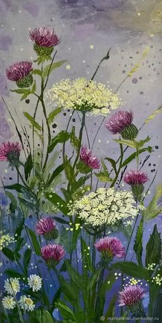 Online shopping on My Livemaster. Watercolor Flowers, Watercolor Paintings, Painted Mailboxes, Fence Art, Painting Inspiration, Garden Art, Flower Art, Painting & Drawing, Art Projects