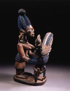 Yoruba Olumeye (Kneeling Female Offering Bowl), Nigeria