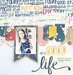 The Good Life Layout + Sketch Planner Scrapbook Layout Heather Leopard: Simple Stories Layout Inspiration, Art Journal Inspiration, Scrapbook Paper Crafts, Scrapbook Supplies, Scrapbook Page Layouts, Scrapbook Pages, Digital Scrapbooking Freebies, Scrapbooking Ideas, Travel Sketchbook