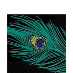 Blue Peacock Lunch Napkins 16ct - Party City