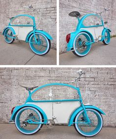 Custom VW Bug Bike - Volkswagon  Bicycle - Clyde James Cycles - www.ratrodbikes.com