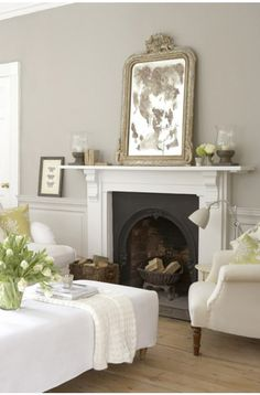 French Grey Living Room