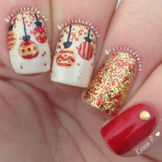 ✴Christmas Baubles Nail Art Design✴