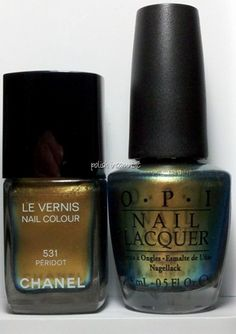 Chanel Peridot vs. OPI Just Spotted the Lizard - Are They Dupes?