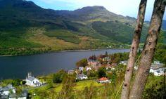 Arrochar at the head of Loch Long.