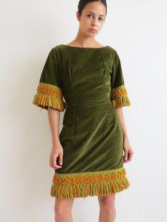 Fringe Agave Dress // Vintage 1960's Dress SOLD