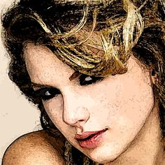New on RedBubble - Taylor Swift portrait - http://www.redbubble.com/people/jngraphs/works/10410049-taylor-1