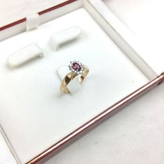14K Gold Ruby Ring, Diamonds 14K Gold Ring with Ruby. Diamonds on side. Size 7 but can be adjusted to your size as complimentary service. Jewelry Rings