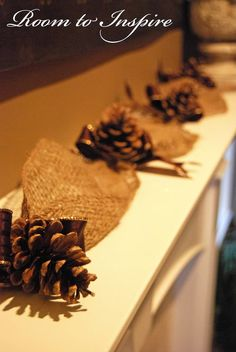 Room to Inspire: Pine Cone Garland ~
