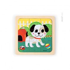 Janod Titus the dog puzzle `One size Age : 18 months and upwards * Details : 6 piece(s) * Fabrics : Wood * Length : 20 cm, Width : 20 cm, Thickness 1 cm. http://www.MightGet.com/january-2017-13/janod-titus-the-dog-puzzle-one-size.asp