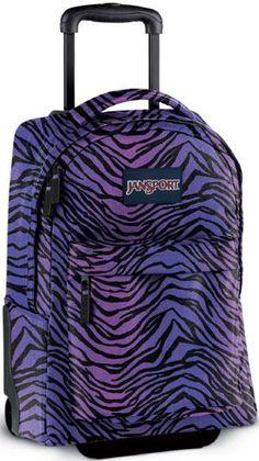 Irv's Luggage - Luggage & Bag Repair Since 1947 Jansport Rolling Backpack, Rolling Backpacks For School, Purple Zebra, All Things Purple, Girl Backpacks, Kids Bags, Travel Backpack, Duffel Bag, Best Brand