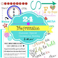 24 Free Printables ready for you to frame or gift. All occasions and just because.