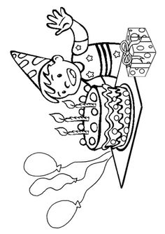 Free Online Birthday Boy Colouring Page