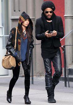 Lenny and Zoe Kravitz