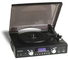 Jensen 3-Speed Stereo Turntable with MP3 Encoding and AM/FM Stereo - JTA-450 (Black) by Jensen. $79.95. Jensen Jta-450 3-Speed Stereo Turntable With Mp3 Encoding & Am/Fm Radio