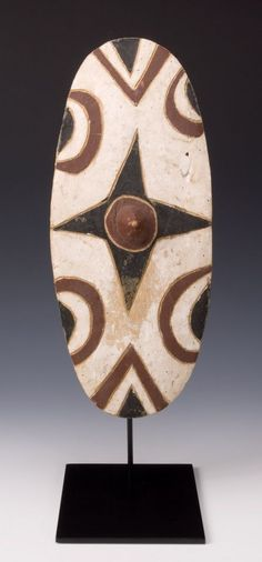 Africa   Tutsi Dance Shield. Rwanda, Great Lakes Region   First half 20th century   Wood painted with kaolin and color pigments