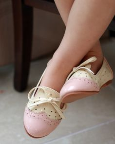 Over the Loom - Spectator Oxford Flats ~ Pink, $33.00