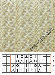 Узор 719 « дорожки» | каталог вязаных спицами узоров
