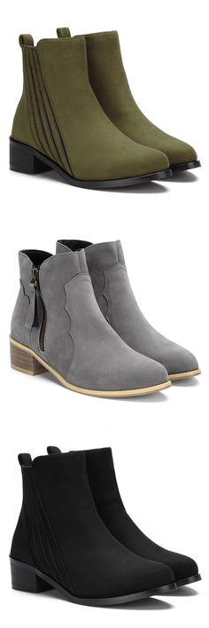 Suede Fashion Ankle Boots