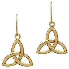 10 Karat Trinity Earrings