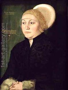 Bartel Beham, Portrait Of Magdalena Neudorffer