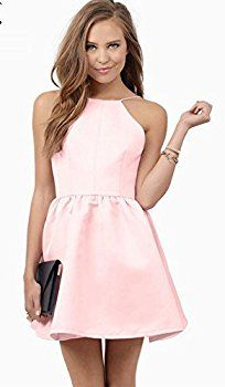 2016 women dress Picture - More Detailed Picture about ladies Summer Dress 2016 Women dress Sexy beach dress Casual Backless Sleeveless Spaghetti Strap pink mini Dress Picture in Dresses from Mayflowers Pink Mini Dresses, Sexy Dresses, Nice Dresses, Pink Dress, Dress Picture, Summer Dresses For Women, Fit And Flare, Lady, Spaghetti