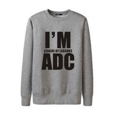 Im League of Legends ADC sweatshirts crew neck for boys