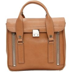 3.1 Phillip Lim K.C. Satchel ($850) ❤ liked on Polyvore featuring bags, handbags, purses, bolsas, accessories, сумки, coin purse, beige purse, satchel hand bags and coin pouch