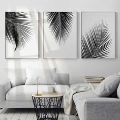Wall canvas art canvas print waterproof ink perfect solution for small or large spaces home or modern workplace kids room living room welcoming relaxing atmosphere home decor wall art paintings DIY art paintings. - March 16 2019 at Cheap Home Decor, Diy Home Decor, Black And White Leaves, Black White Decor, Living Room Decor Black And White, Black And White Interior, Black And White Wall Art, White Room Decor, Modern Room Decor
