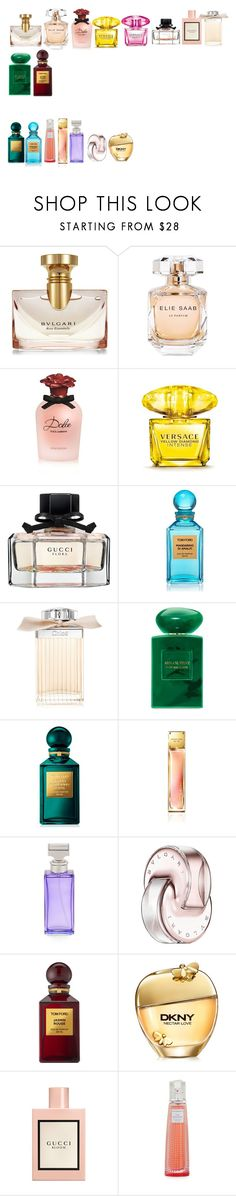 """parfumes for spring and summer"" by azra-99 on Polyvore featuring beauty, Bulgari, Elie Saab, Dolce&Gabbana, Versace, Gucci, Tom Ford, Chloé, Giorgio Armani and Calvin Klein"