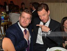 ニュース写真 : Actor/comedian James Corden and actor Benedict...