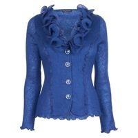 £81.00 James Lakeland Ruched Collar Mohair #Cardigan, Blue #fashion