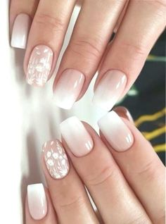 37 perfect ombre nail design to upgrade your style summer nail designs Cute Acrylic Nails, Cute Nails, Pretty Nails, Ombre Nail Designs, Nail Art Designs, Acrylic Nail Designs, Ombre Nail Art, Daisy Nail Art, Square Nail Designs
