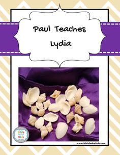 paul teaches lydia about Jesus lesson, ideas and printables. #Biblefun