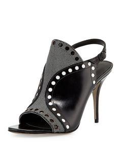 Alexander Wang Natalya Perforated Leather Sandal, Black
